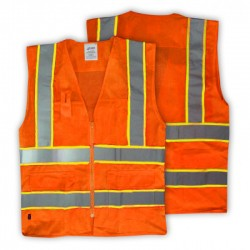 Warnweste mit Zipp orange...