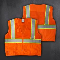 Warnweste mit Zipp orange