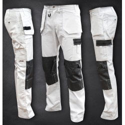 "Bundhose ""HARDWORKER"" white"