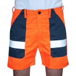 Warnschutz Short orange/navy